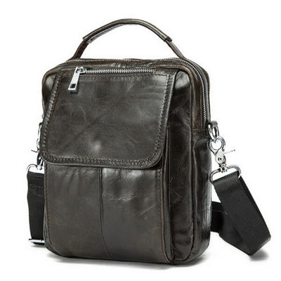 Men's Genuine Leather casual crossbody bag messenger bag