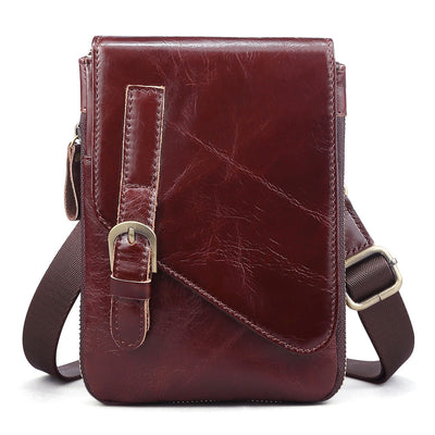 Men's Genuine Leather Bags High Quality Fashion Casual Messenger Crossbody Bag