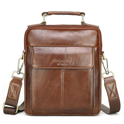 Men's Genuine Leather Business Casual Travel Crossbody Bag