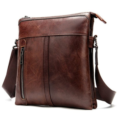 Men's Cowhide Leisure Fashion Genuine Leather Crossbody Bag