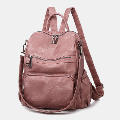 Women's Casual Solid Sholuder Bag Backpack