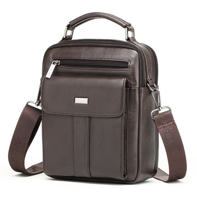 Men's Fashion Small Flap Male Crossbody Bag Travel Genuine Leather Messenger Bag