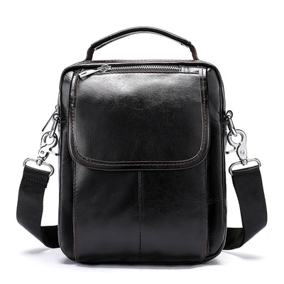 Men's Genuine Leather Travel  Business Crossbody Bag