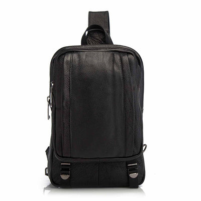 Men's Genuine Leather Casual Fashion Large Travel Crossbody Chest Sling Bag