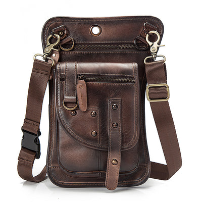Men's Multifunction Travel Shoulder Crossbody Messenger Bag