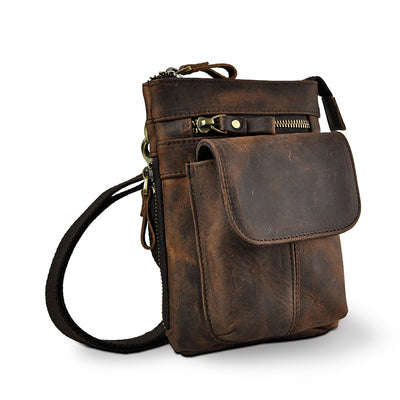 Men's Multifunction Small Crossbody Messenger One Shoulder Bag Fashion Waist Belt Bag