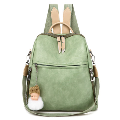 Women's Casual Travel Soft Leather Backpack Vintage Shoulder Bag