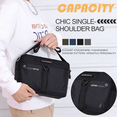Men's Waterproof Oxford Cloth Diagonal Multi-color Shoulder Bag