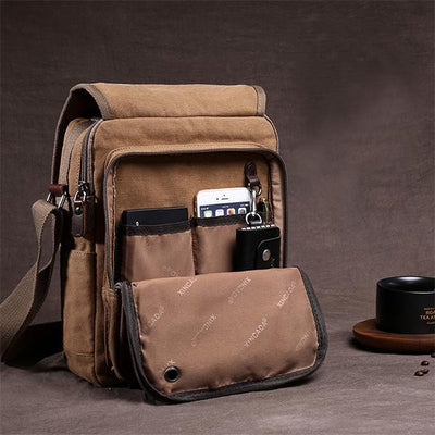 Men's Casual Multifunctional Business Retro Crossbody Bag