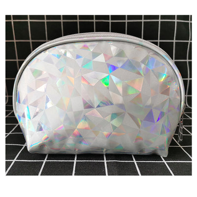 Women's fashion laser shell cosmetic bag travel portable waterproof storage cosmetic bag