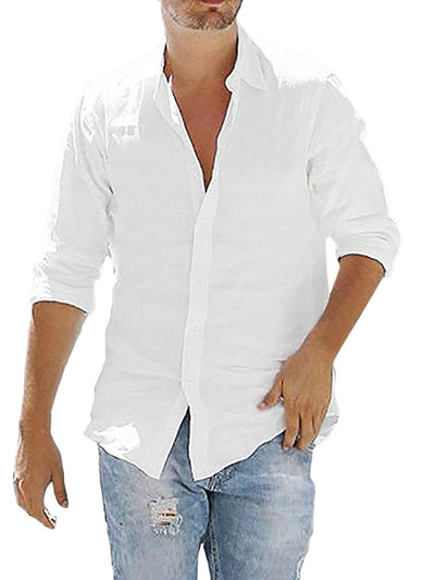 Men's Cotton Linen Loose Shirts