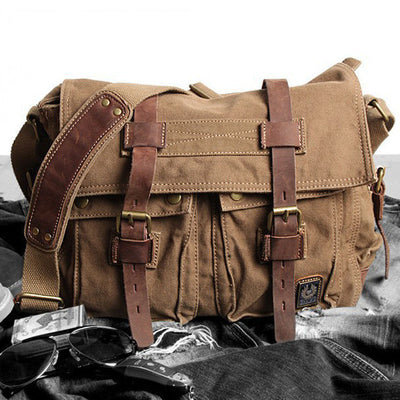 Men's casual canvas shoulder bag outdoor travel crossbody bag
