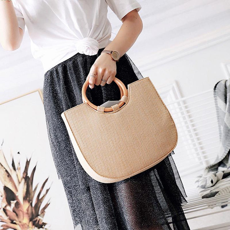 Summer Large Capacity Straw Bag Shoulder Bag