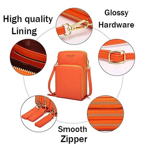 Women Multi-Pocket Crossbody Phone Bag