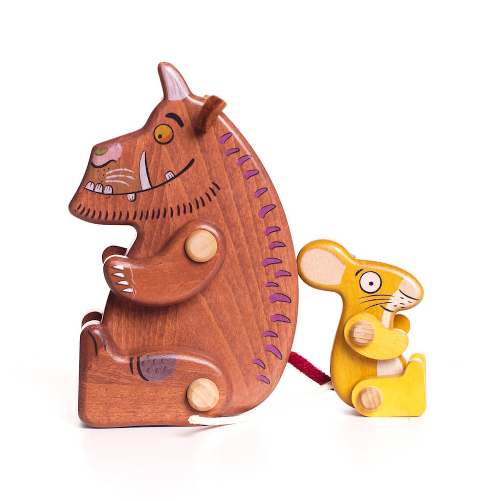 Bajo Gruffalo & Mouse Figures with backs to each other
