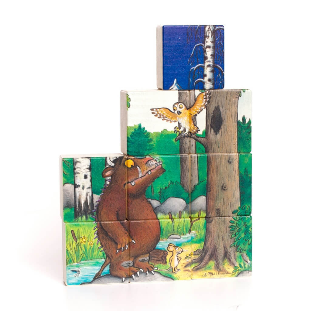 Bajo Gruffalo Double Sided Puzzle standing up