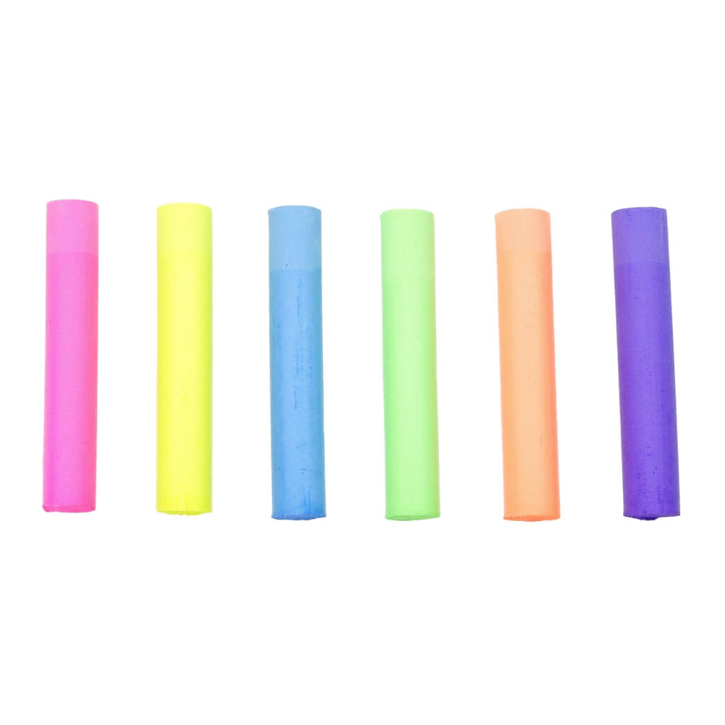 Kitpas Dustless Chalk Neon - Pack of 6