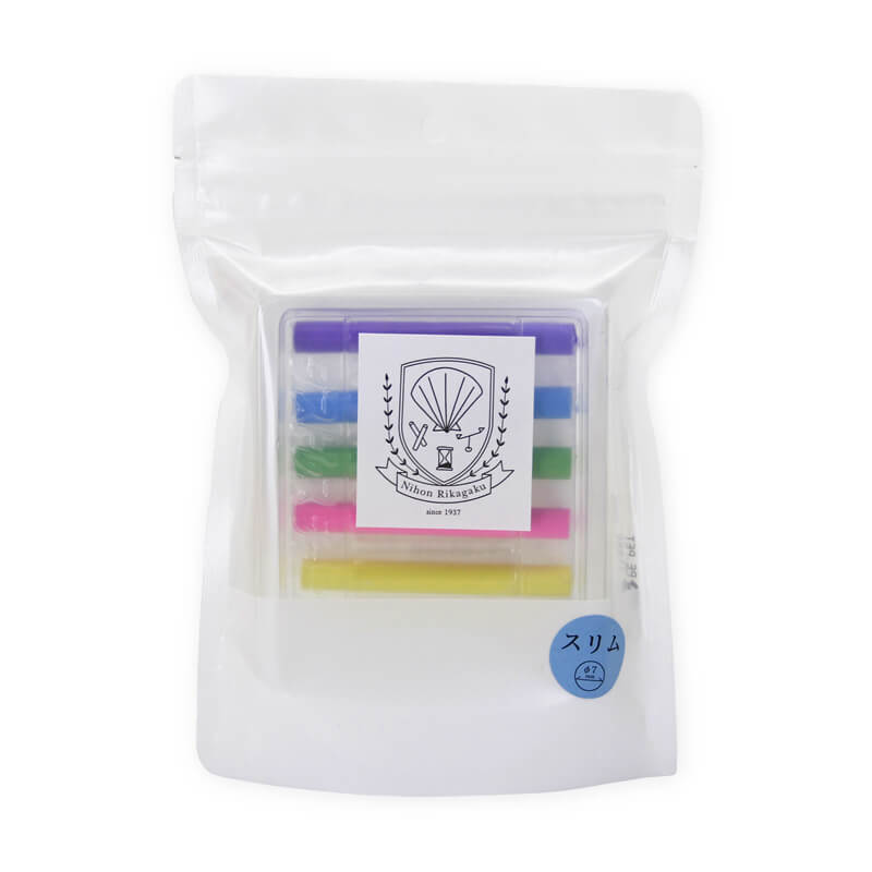 Kitpas Dustless Slim Chalk Basic - Pack of 6