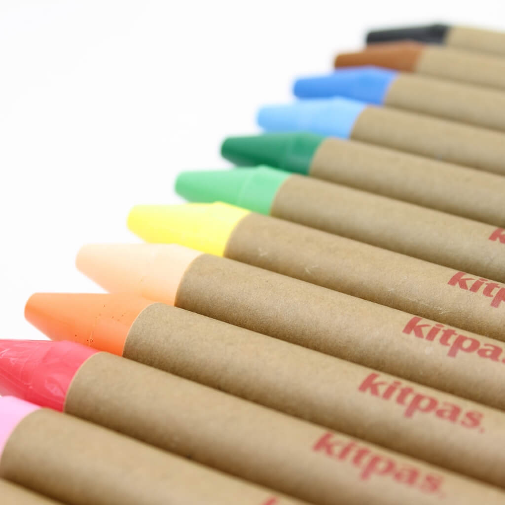 Kitpas Large Crayons - 12 Colours