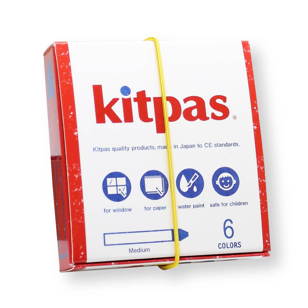Kitpas Medium Crayons - Pack of 6