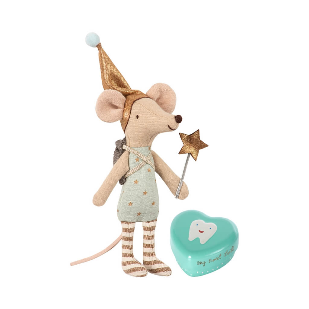 Maileg Big Brother Tooth Fairy Mouse with Metal Box