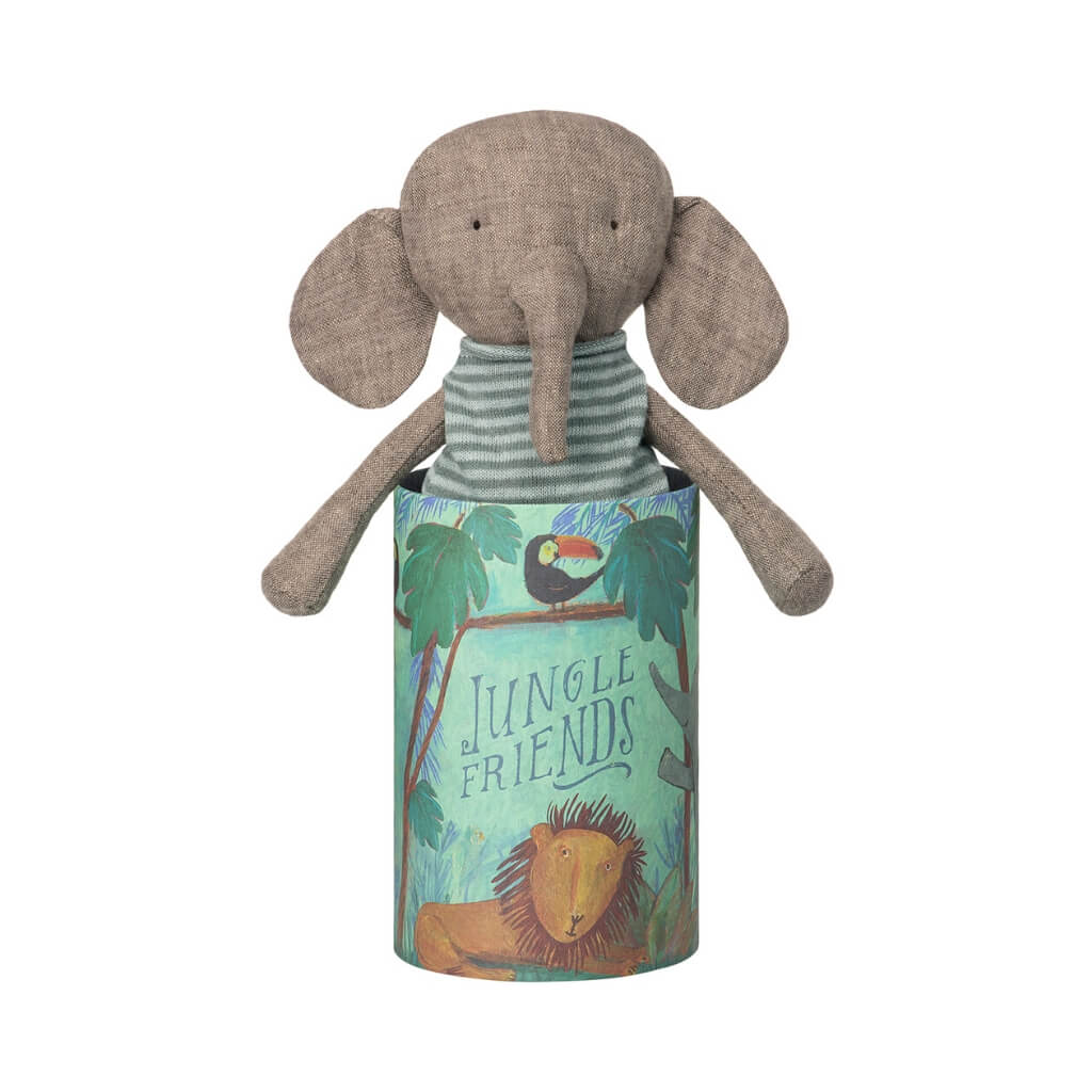 Maileg Jungle Friends Elephant in the box