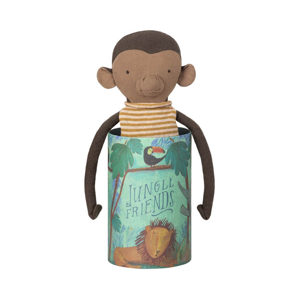 Maileg Jungle Friends Monkey in the box