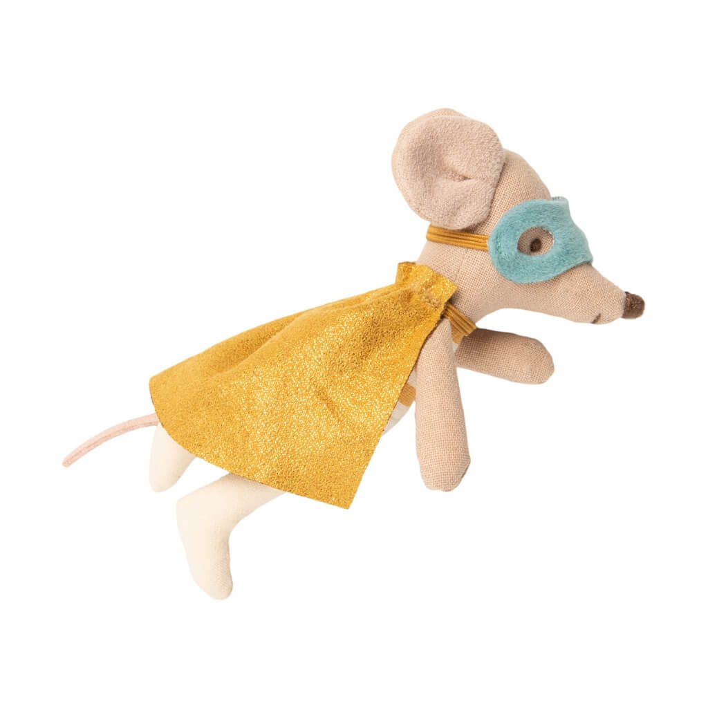 Maileg Little Brother Superhero Mouse flying