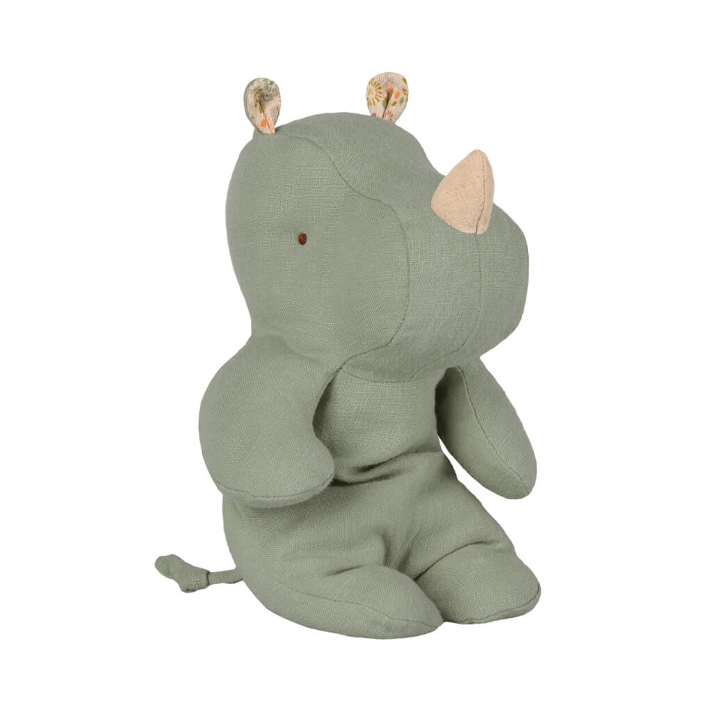 Maileg Safari Friends Small Rhino Dusty Green