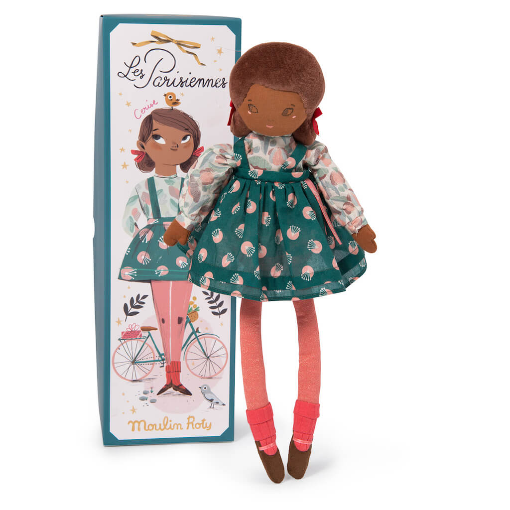Moulin Roty Les Parisiennes Mademoiselle Cerise Doll and box