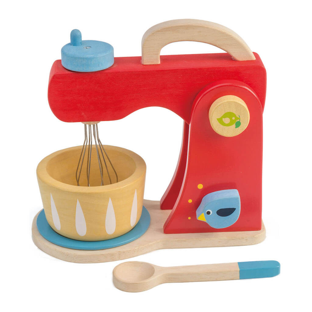 Tender Leaf Toys Baker's Mixer and wooden spoon