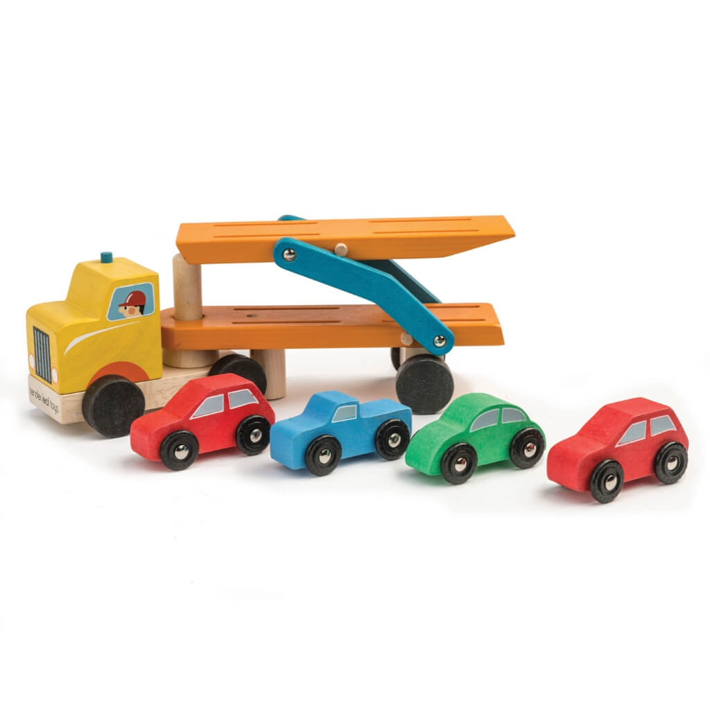 Tender Leaf Toys Car Transporter pieces