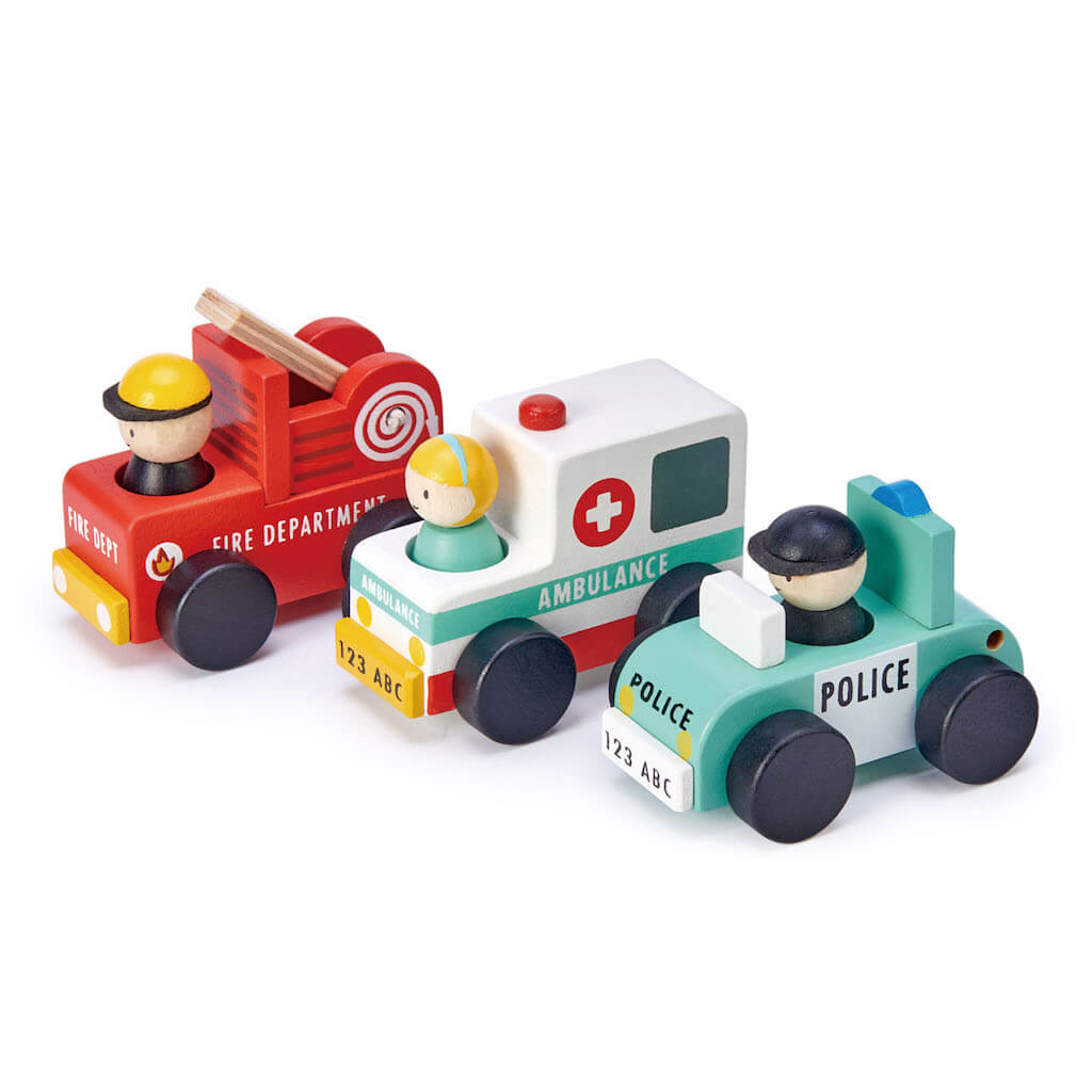 Tender Leaf Toys Emergency Vehicles