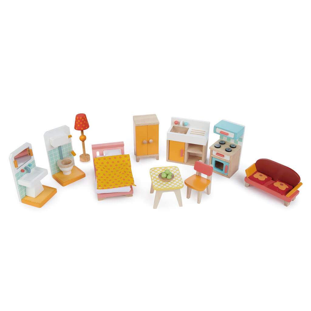 Furniture of the Tender Leaf Toys Foxtail Villa Dolls House