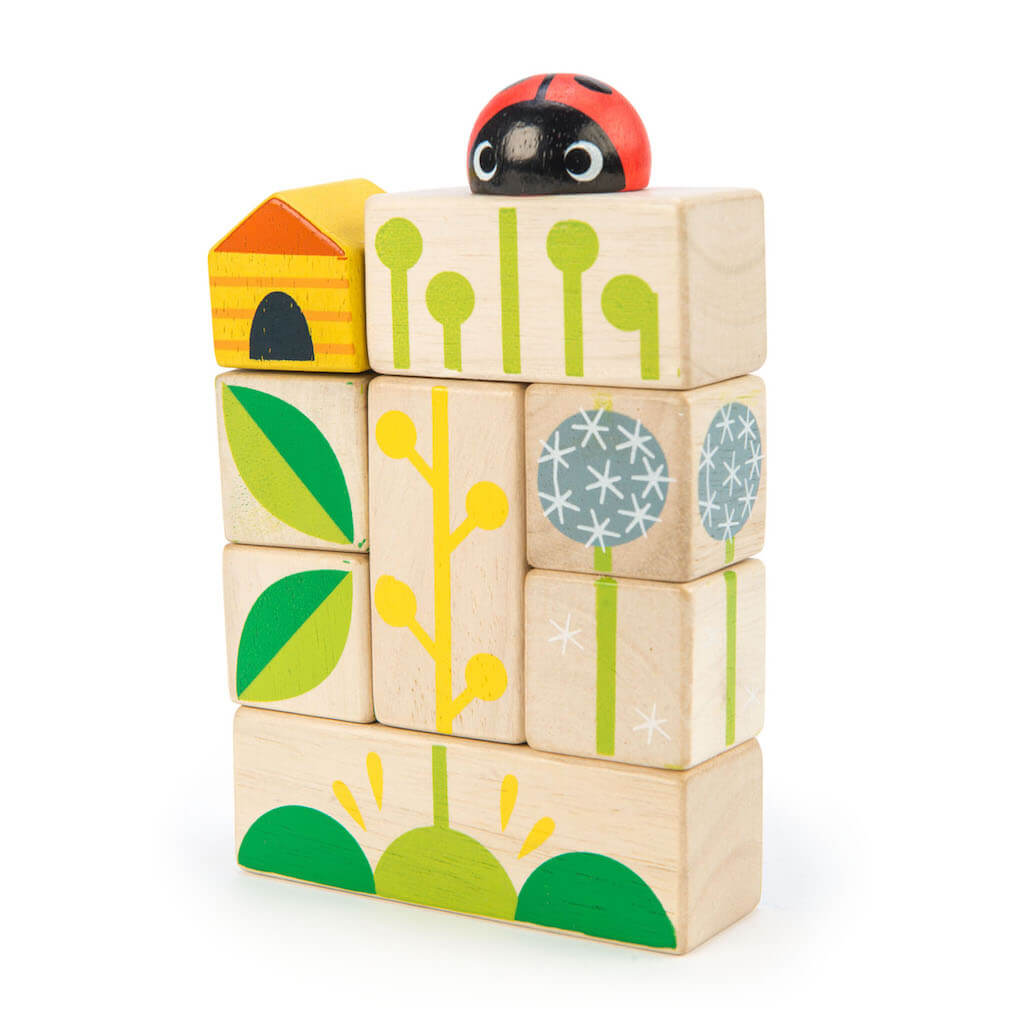 Tender Leaf Toys Garden Blocks stacked