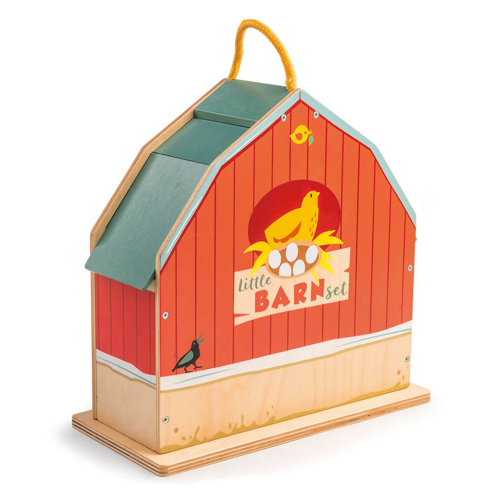 Back of the Tender Leaf Toys Little Barn Set