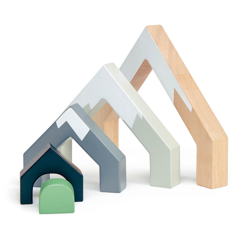 Tender Leaf Toys Mountain Pass Stack pieces