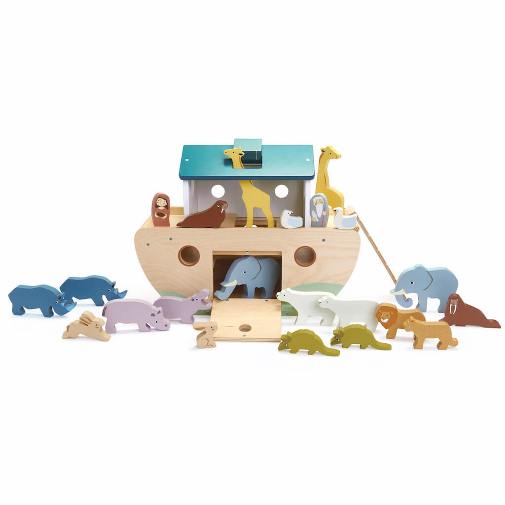 Animals of the Tender Leaf Toys Noah's Wooden Ark