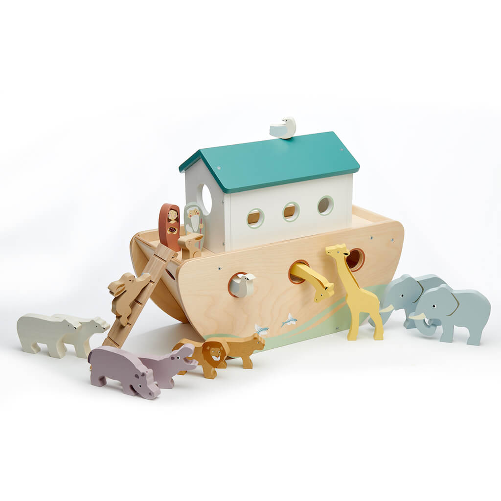 Back of the Tender Leaf Toys Noah's Wooden Ark