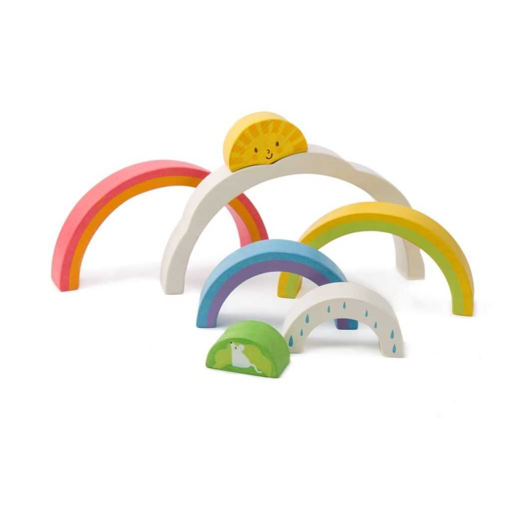 Pieces of Tender Leaf Toys Rainbow Tunnel