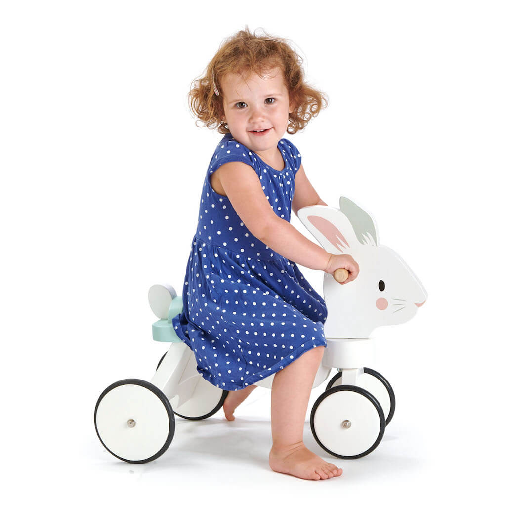 Girl on the Tender Leaf Toys Running Rabbit Ride On