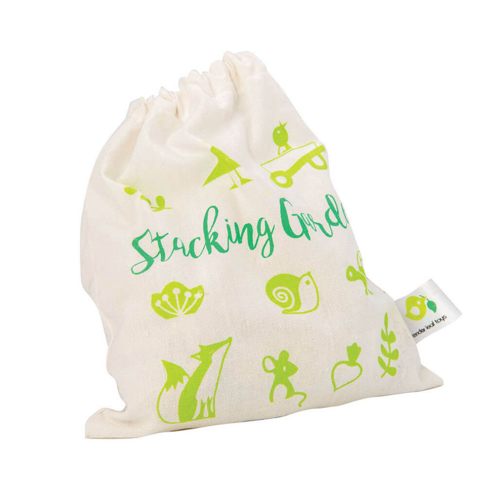 Tender Leaf Toys Stacking Garden Friends bag