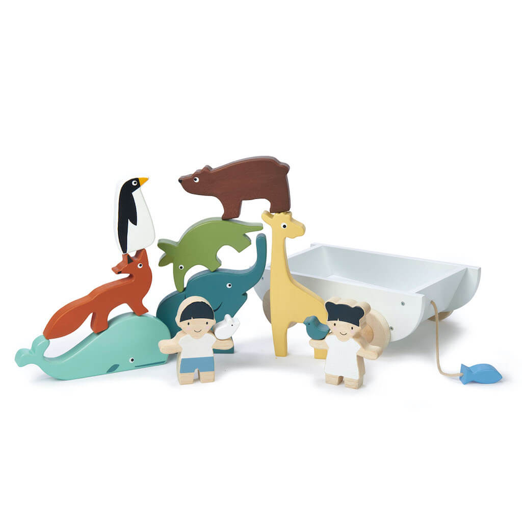 Tender Leaf Toys The Friend Ship stacked animals