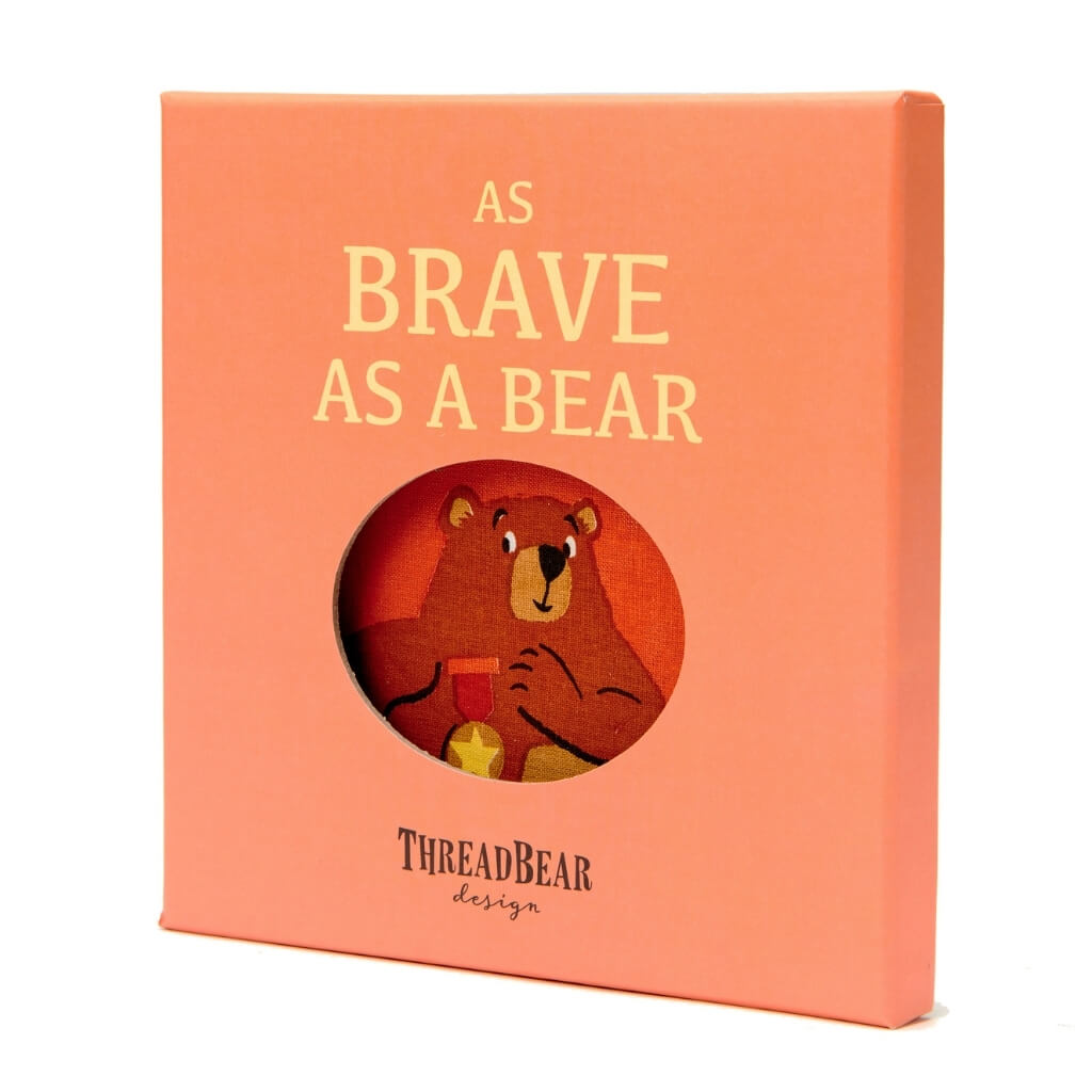 ThreadBear Design As Brave as a Bear Rag Book