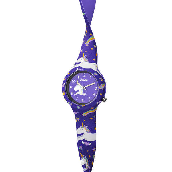 Kinderuhr Doodle Purple Unicorn - DO32006