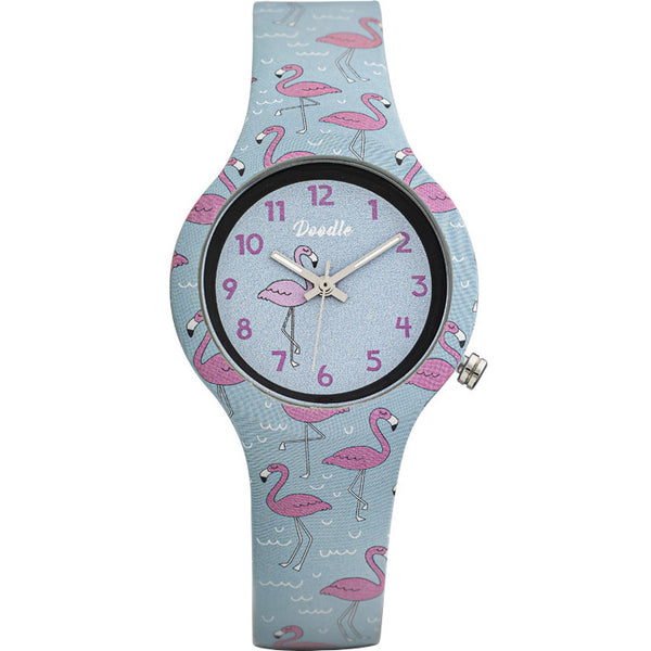 Kinderuhr Doodle Flamingo - DO32008