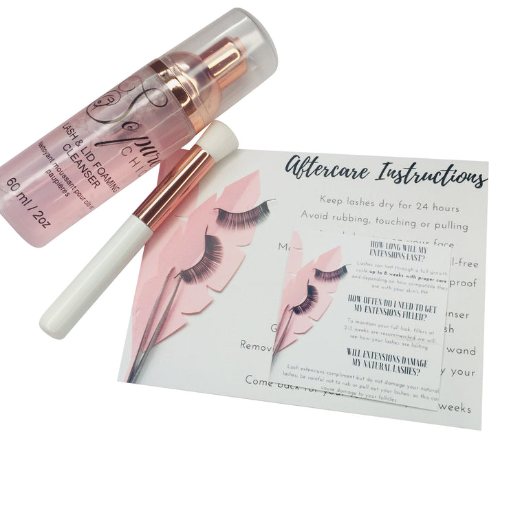 AFTERCARE CARD-PINK LASH