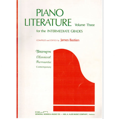 Piano Literature Volume Three