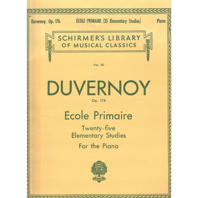 Ecole Primaire Twenty-Five Elementary Studies for the Piano, Op. 176 by Duvernoy