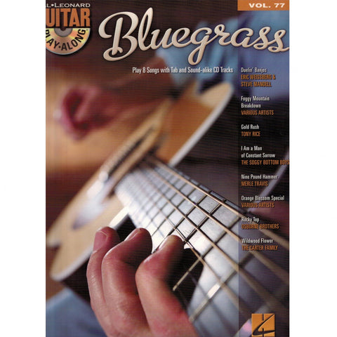 Bluegrass Guitar Play-Along Vol. 77